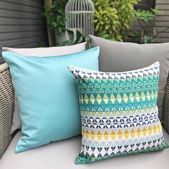 (複製)MULA DECO|色彩幾何手工抱枕2件組