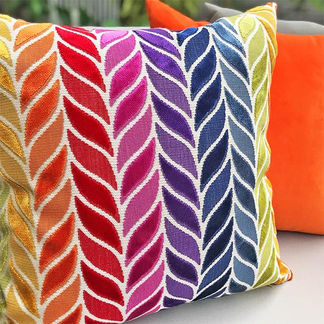 (複製)MULA DECO 色彩幾何手工抱枕 (花紋、藍色2件組)