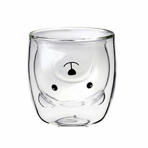 EILONG台灣宜龍|雙層玻璃透明熊杯  (250ml)