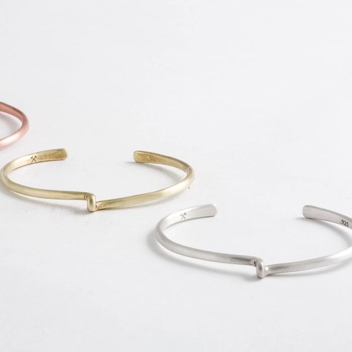 Studebaker Metals|Avanti Cuff 手工鍛造純銀手環