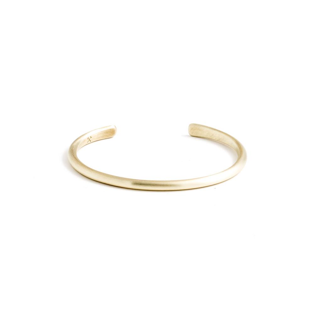 Studebaker Metals Champion Cuff 手工鍛造黃銅(消光霧面)手環