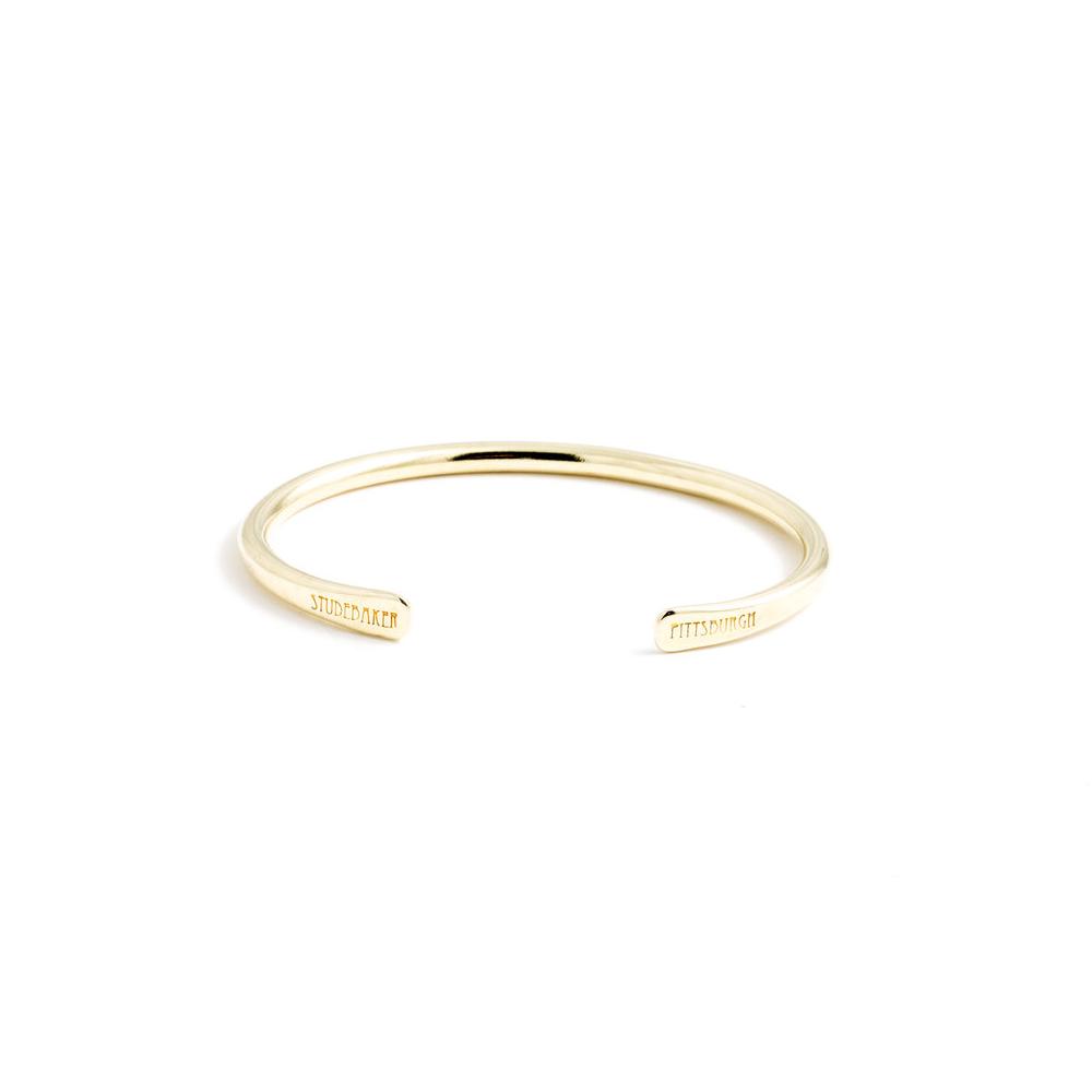 Studebaker Metals|Champion Cuff 手工鍛造黃銅(拋光亮面)手環