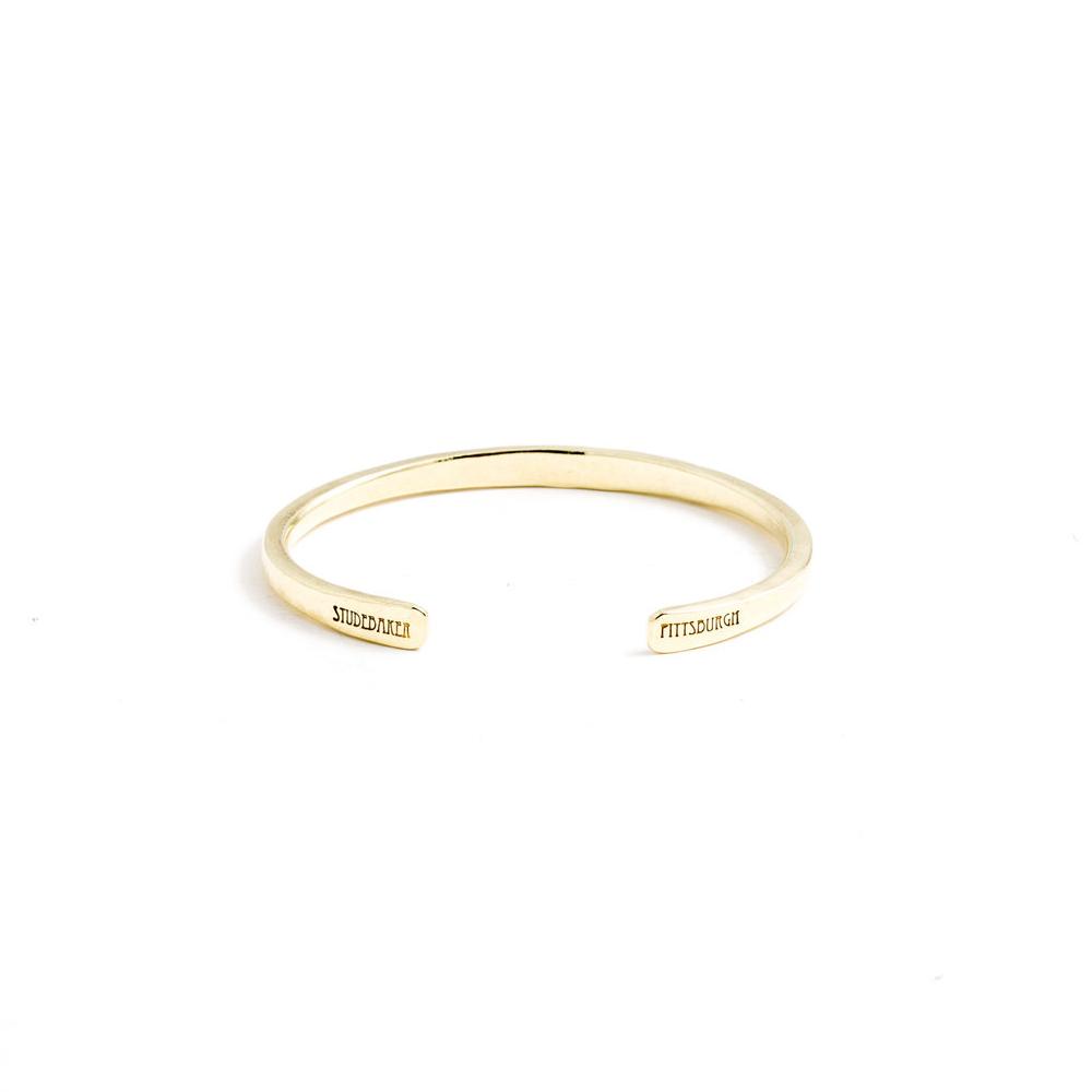 Studebaker Metals|Workshop Cuff 手工鍛造黃銅手環