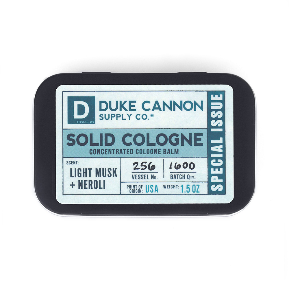 Duke Cannon 「淡麝香、橙花」有機固態古龍水