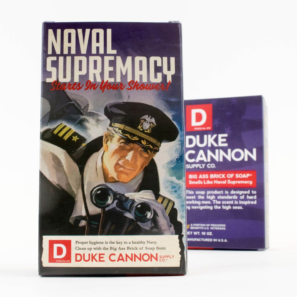 Duke Cannon|BIG ASS 美軍「超能幹」大肥皂 (海軍) 二戰紀念包裝