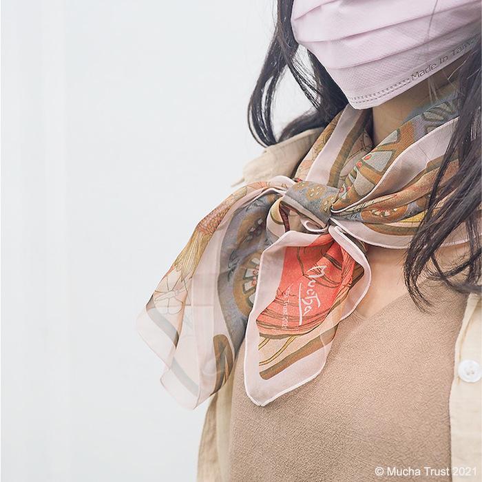 永恆慕夏-線條的魔術|絲巾