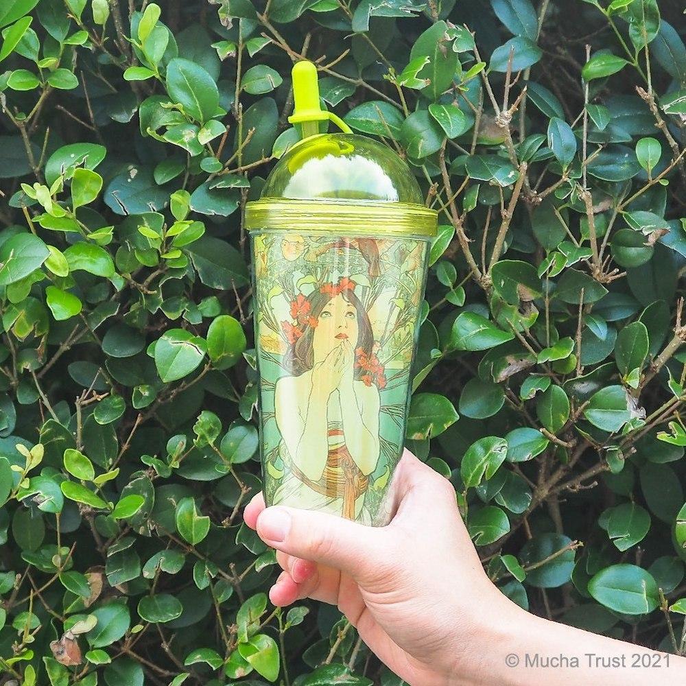 永恆慕夏-線條的魔術 雙層吸管杯-摩納哥蒙地卡羅