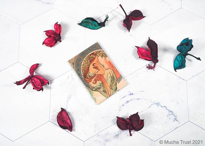 永恆慕夏-線條的魔術|馬口鐵磁鐵-詩歌