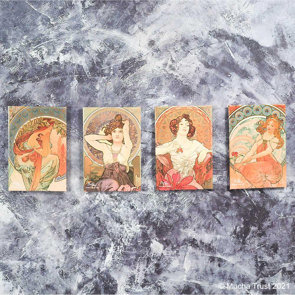 永恆慕夏-線條的魔術|馬口鐵磁鐵-紅寶石