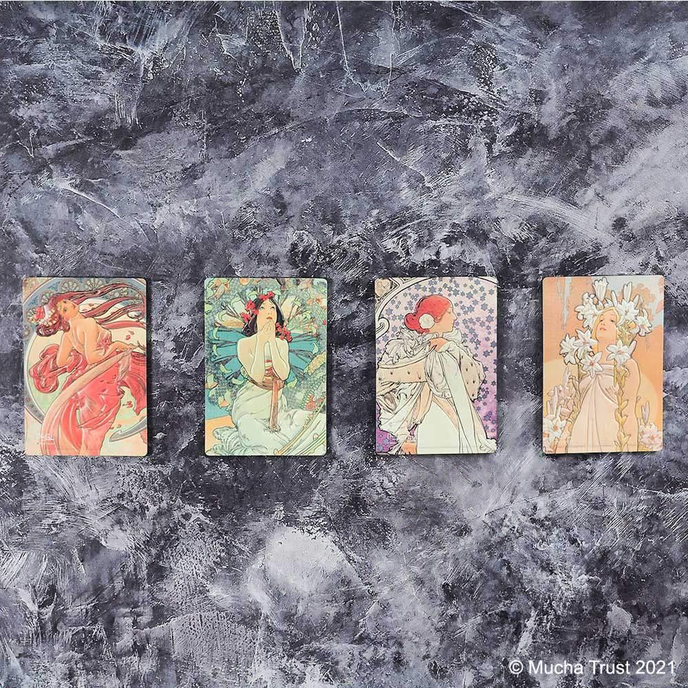 永恆慕夏-線條的魔術|立體磁鐵-茶花女