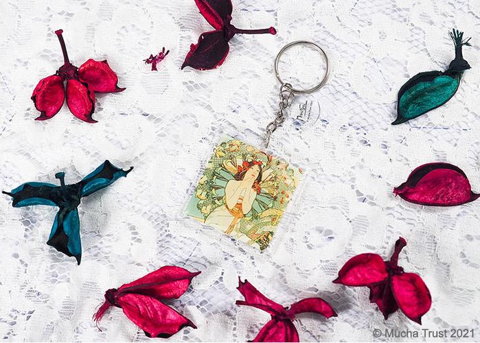 永恆慕夏-線條的魔術|壓克力鑰匙圈-摩納哥蒙地卡羅