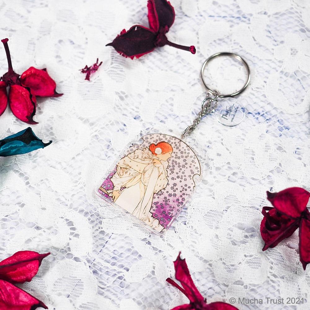 永恆慕夏-線條的魔術|壓克力鑰匙圈-茶花女