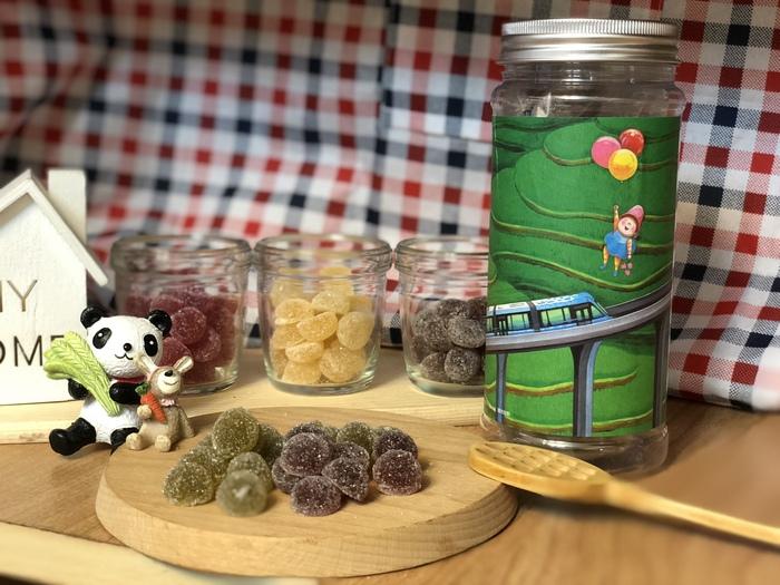 (複製)蜜甜本舖|幾米授權軟糖-跳躍/蜂火龍果檸檬綠軟糖