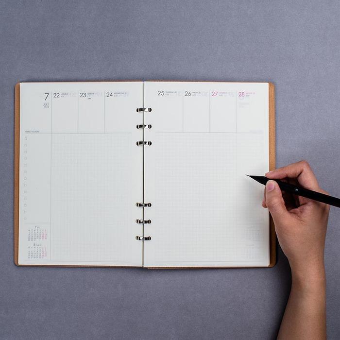原木哲學 feelosophy|2019 手帳本 美國側柏 A5原木筆記本 附行事曆 Calendar Notebook