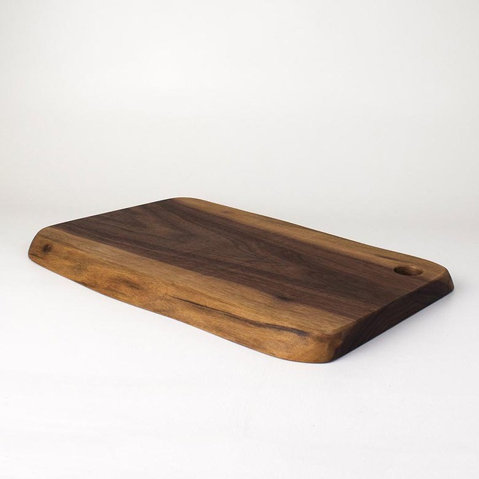 原木哲學 feelosophy|自然邊砧板 Natural Side Cutting Board 黑胡桃木 Black Walnut 30x20x1.8公分