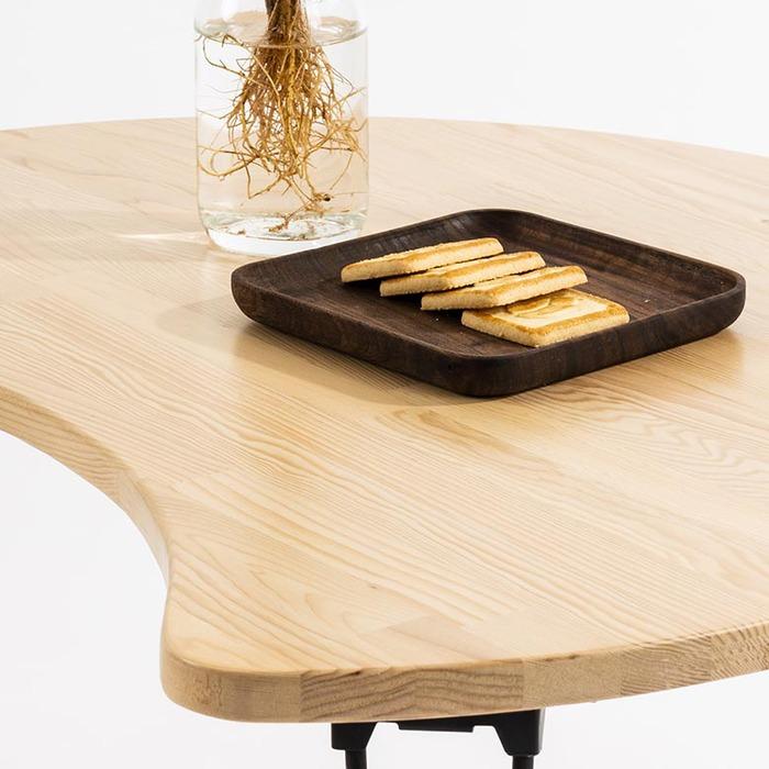 原木哲學 feelosophy|北美鐵杉 彎月和室桌 符合人體工學 折疊桌 Moon Wood Table 70x57x31x1.8 cm