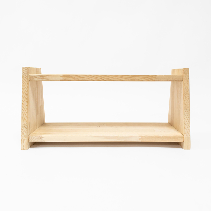 原木哲學 feelosophy|原木雙層架 Double Wooden Shelf
