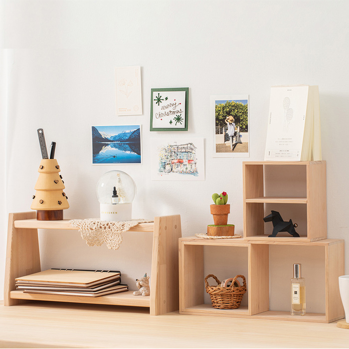 原木哲學 feelosophy|原木雙層架 Double Wooden Shelf