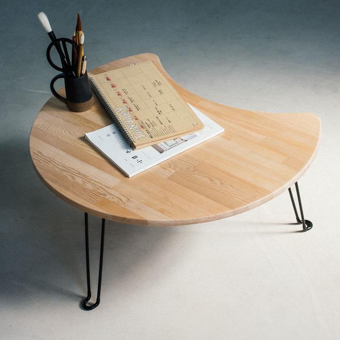 (複製)原木哲學 feelosophy|北美鐵杉 彎月和室桌 折疊桌 Moon Wood Table