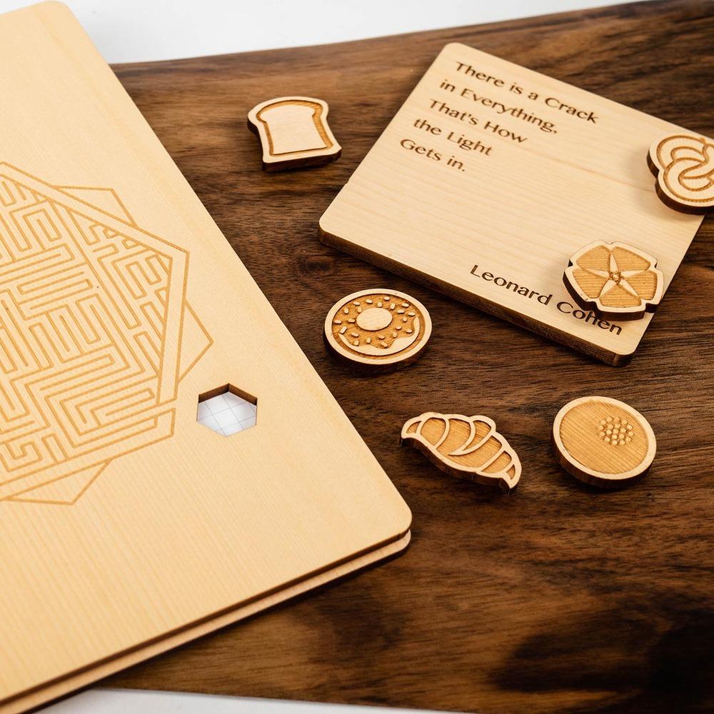 原木哲學 feelosophy|原木杯墊 英文語錄  Wood Coaster