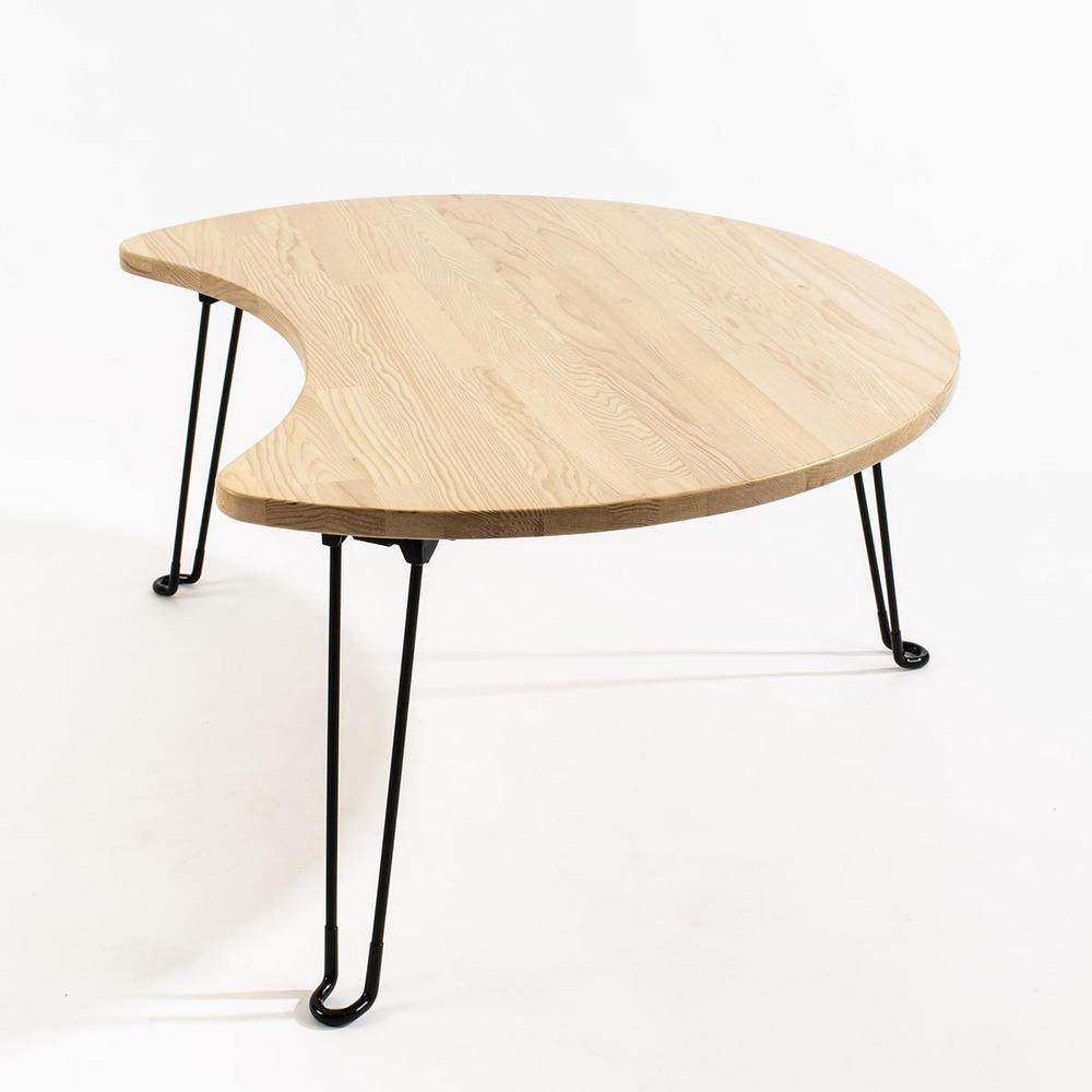 原木哲學 feelosophy|北美鐵杉 彎月和室桌 折疊桌 Moon Wood Table