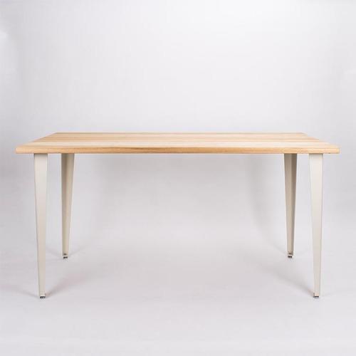 原木哲學 feelosophy| 北美鐵杉 簡單原木桌 斜線造型  Simply Wood Table 黑白桌腳任搭 (大)