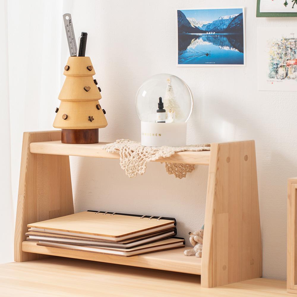 原木哲學 feelosophy 原木雙層架 Double Wooden Shelf