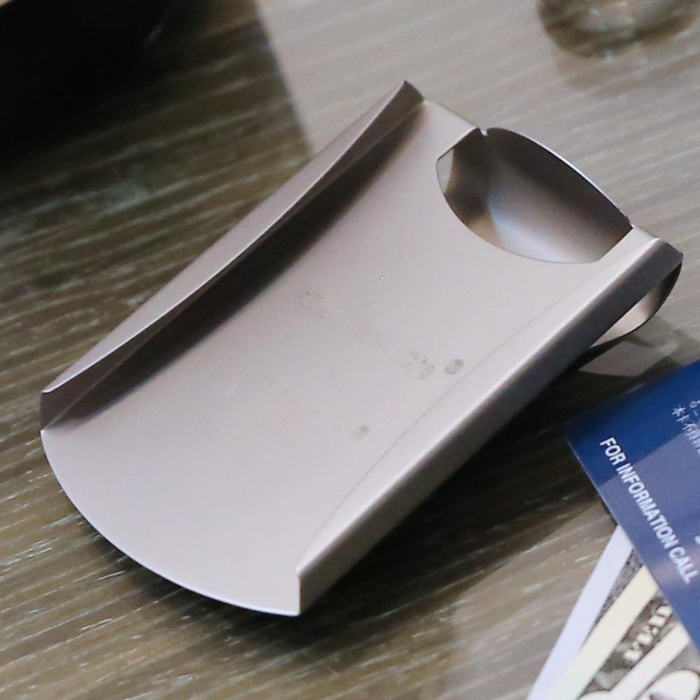 美國STORUS 聰明錢夾 專利設計時尚鈔票夾 -  閃耀銀