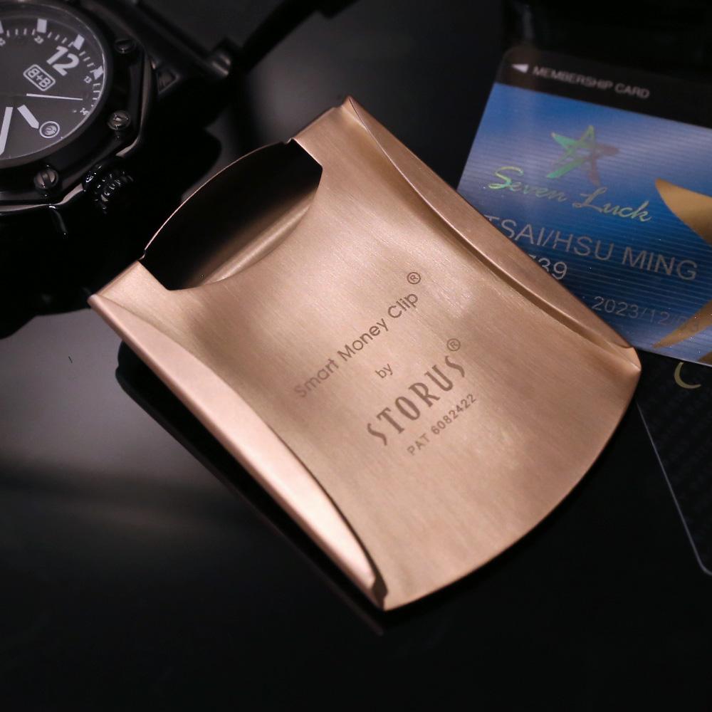 美國STORUS|  聰明錢夾 專利設計時尚鈔票夾 -   霧面玫瑰金