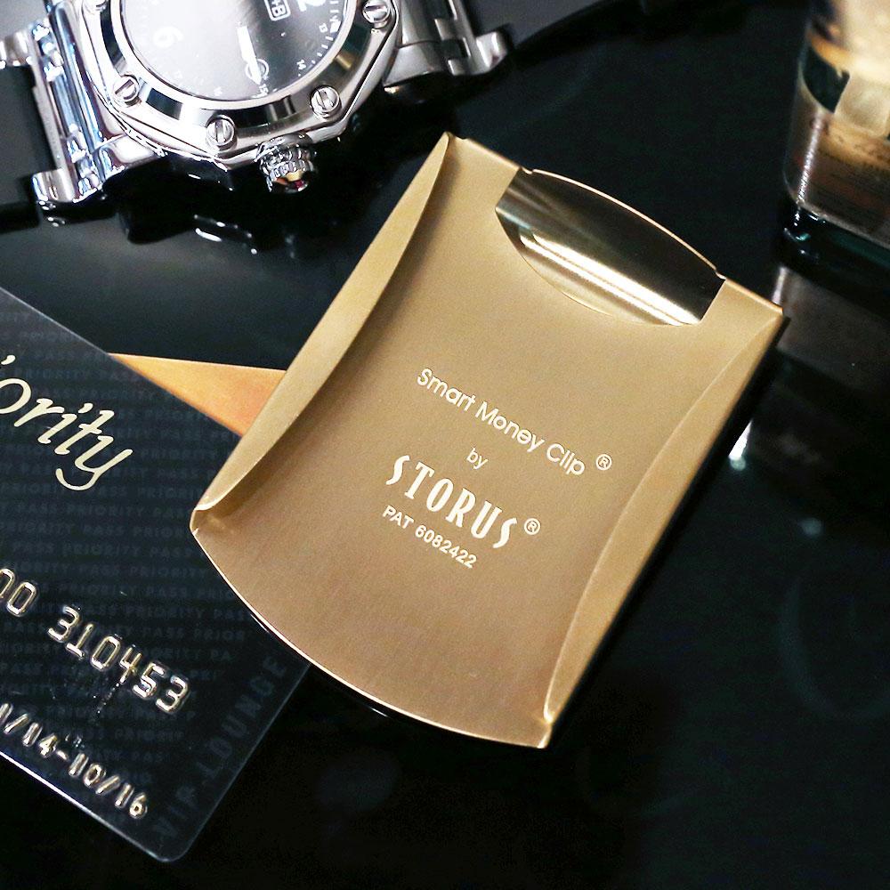 美國STORUS|  聰明錢夾 專利設計時尚鈔票夾 -   霧面金