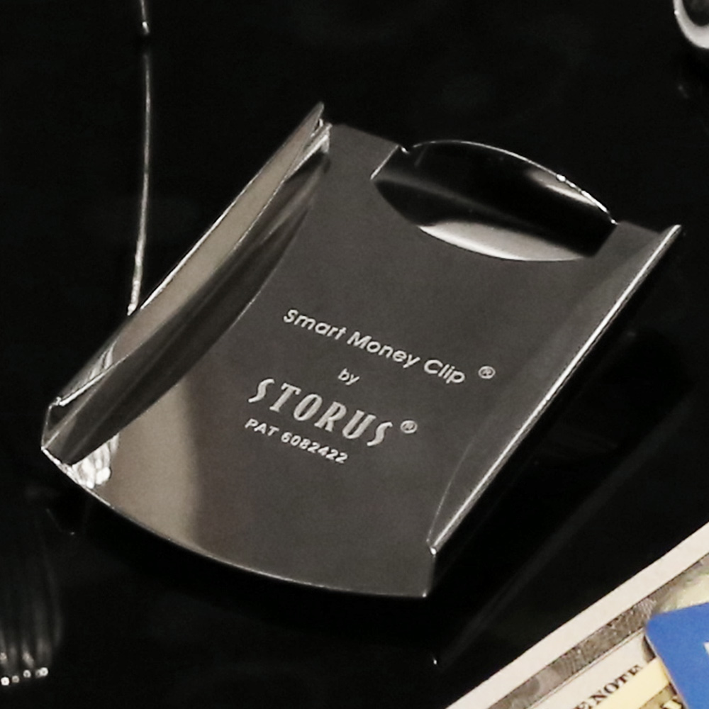 美國STORUS|  聰明錢夾 專利設計時尚鈔票夾 -   鏡面黑