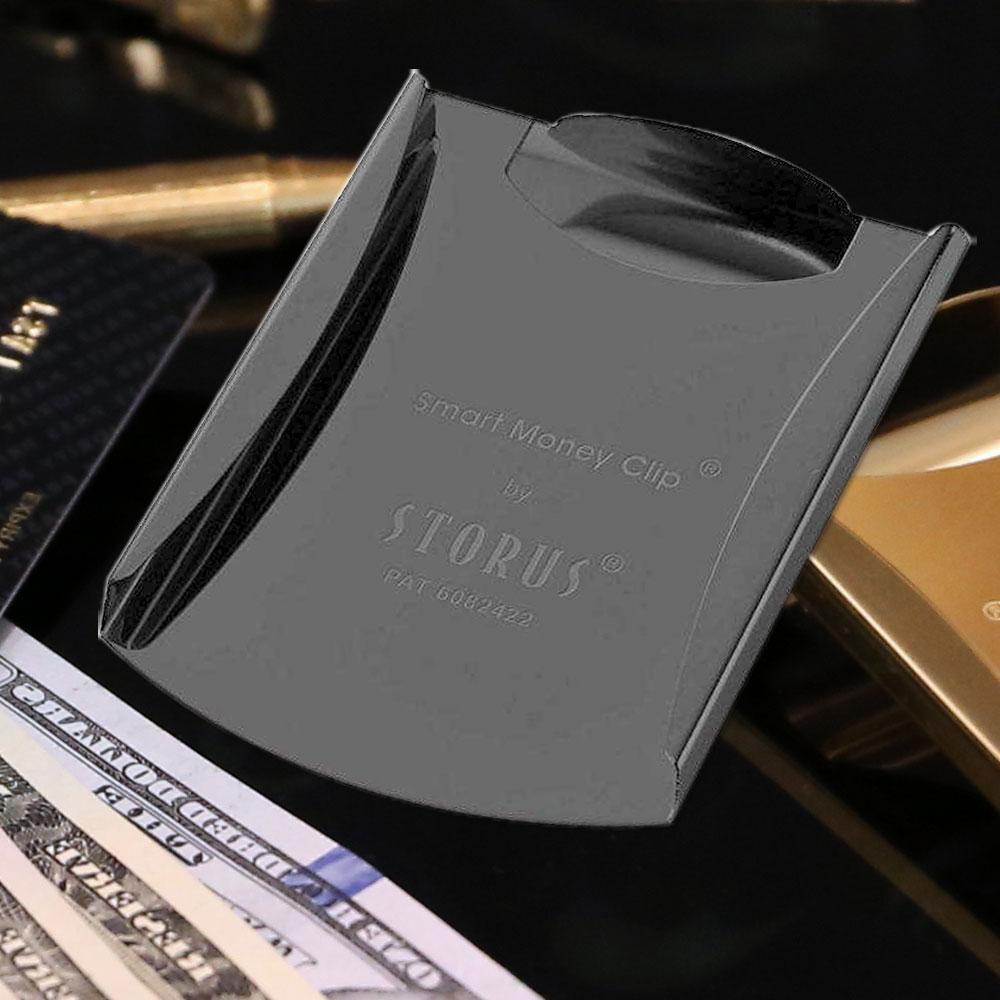 美國STORUS|  聰明錢夾 專利設計時尚鈔票夾 -   霧面黑