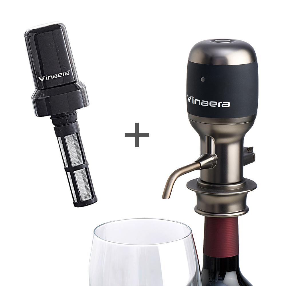 Vinaera Pro 電子醒酒器 - 二代專業版  紅酒倒酒器&濾酒器