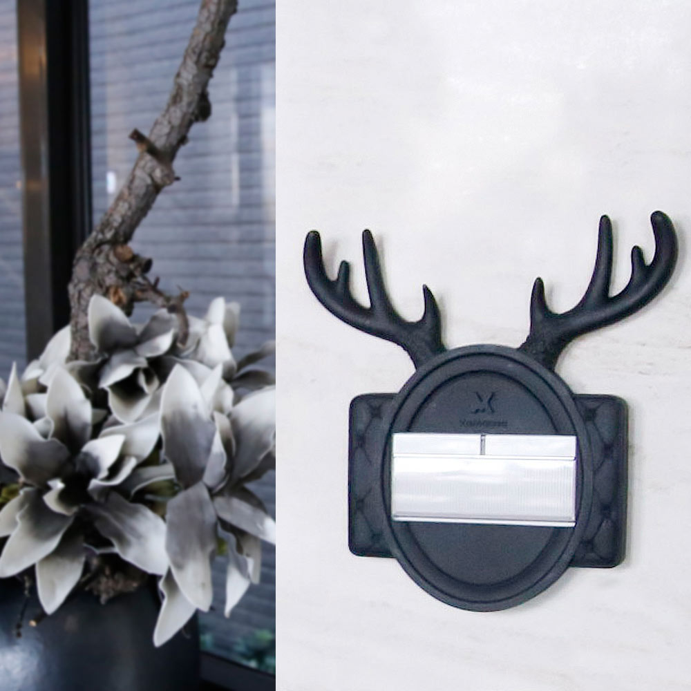 VaMarssa|鹿頭開關面板 (黏貼式-黑)