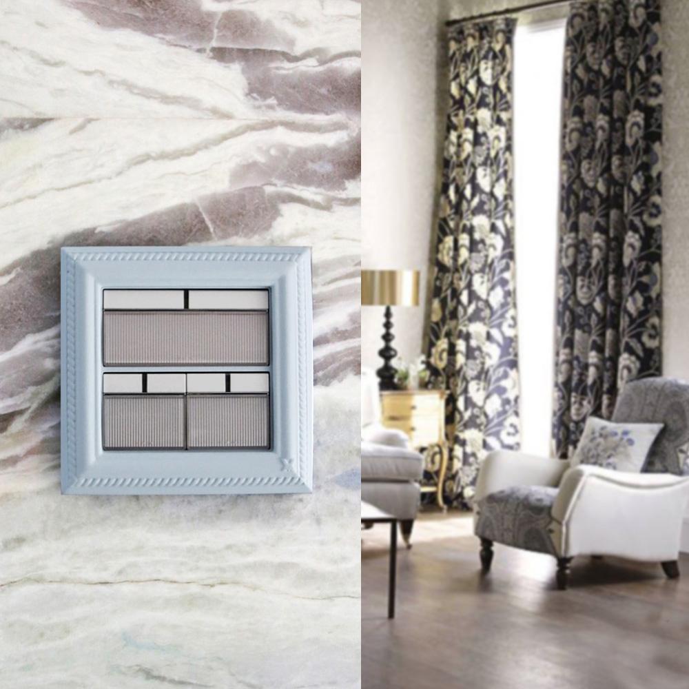 VaMarssa 新古典大開關面板 (卡準式-藍)