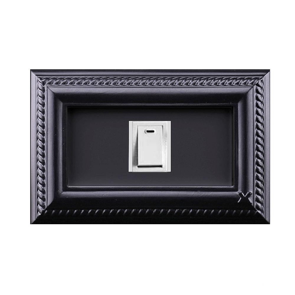 VaMarssa|新古典單孔插座面板 (卡準式-黑)