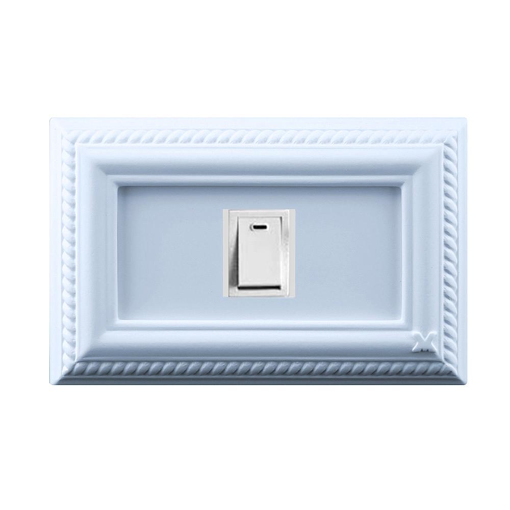 VaMarssa|新古典單孔插座面板 (卡準式-藍)