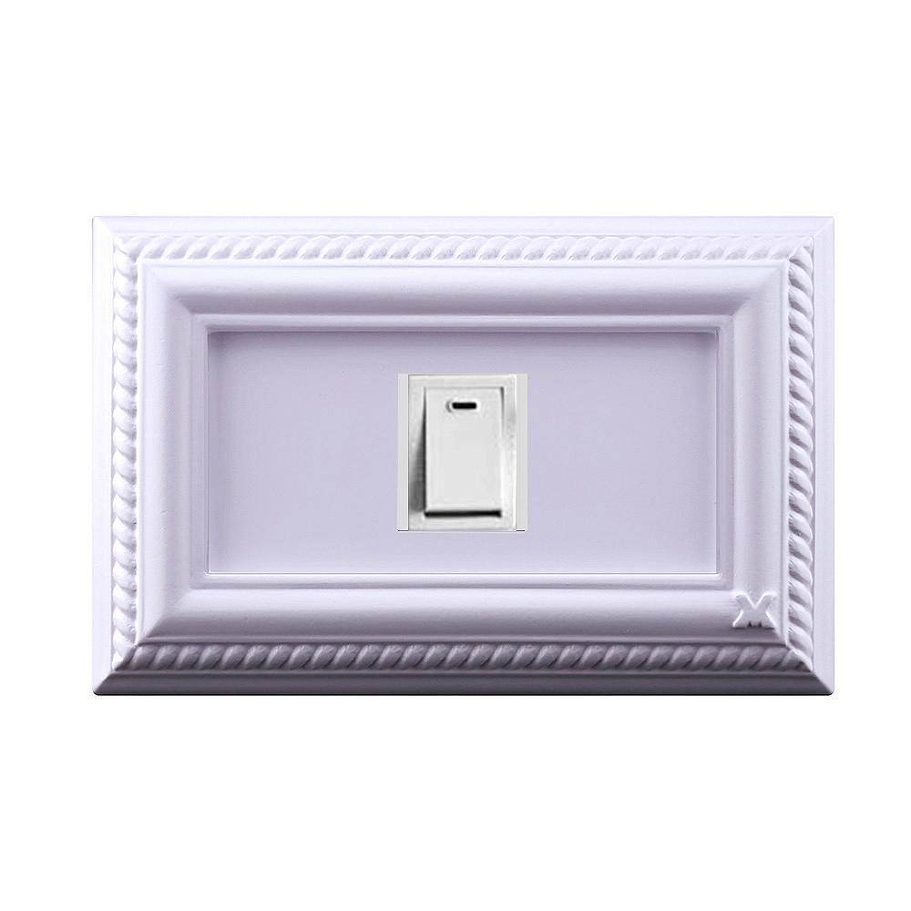 VaMarssa|新古典單孔插座面板 (卡準式-紫)