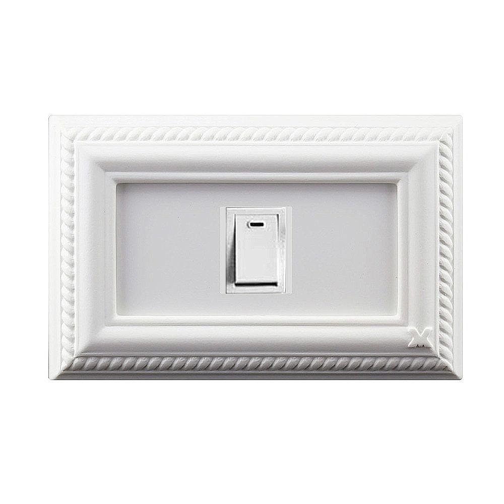 VaMarssa 新古典單孔插座面板 (卡準式-白)