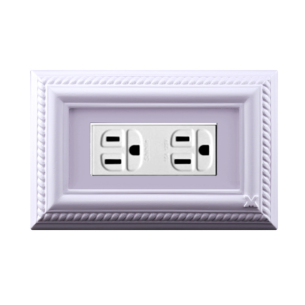 VaMarssa|新古典三孔插座面板 (卡準式-紫)