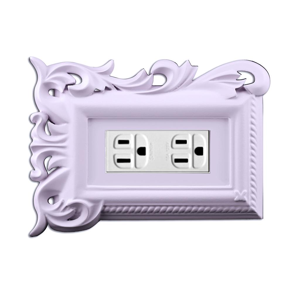 VaMarssa|拼花三孔插座面板 (卡準式-紫)