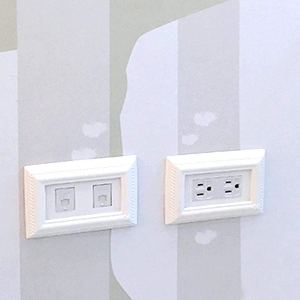 VaMarssa|新古典三孔插座面板 (卡準式-白)