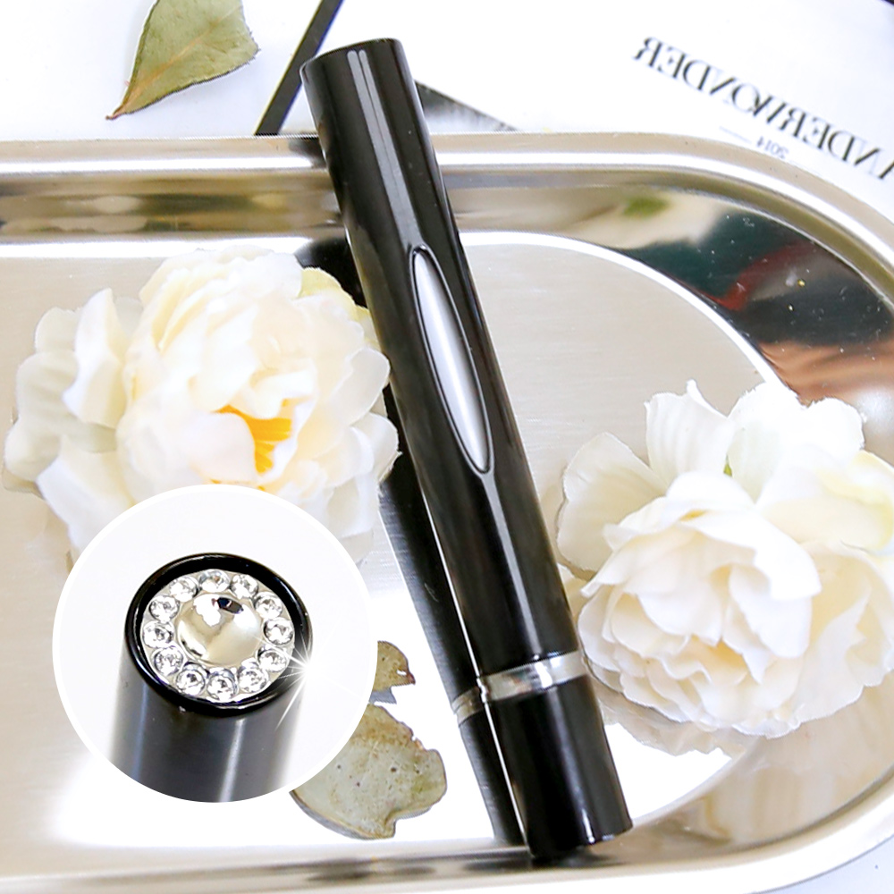 Caseti| 時尚鑲鑽香水分裝瓶(黑)| 防漏鎖設計