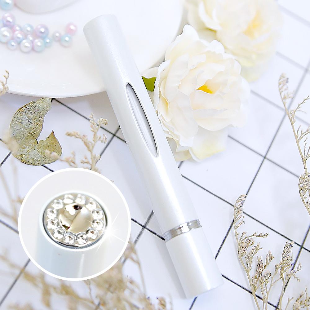 Caseti| 時尚鑲鑽香水分裝瓶(白)| 防漏鎖設計