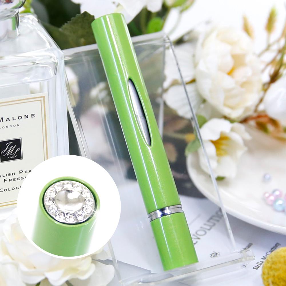 Caseti| 時尚鑲鑽香水分裝瓶(綠) | 防漏鎖設計