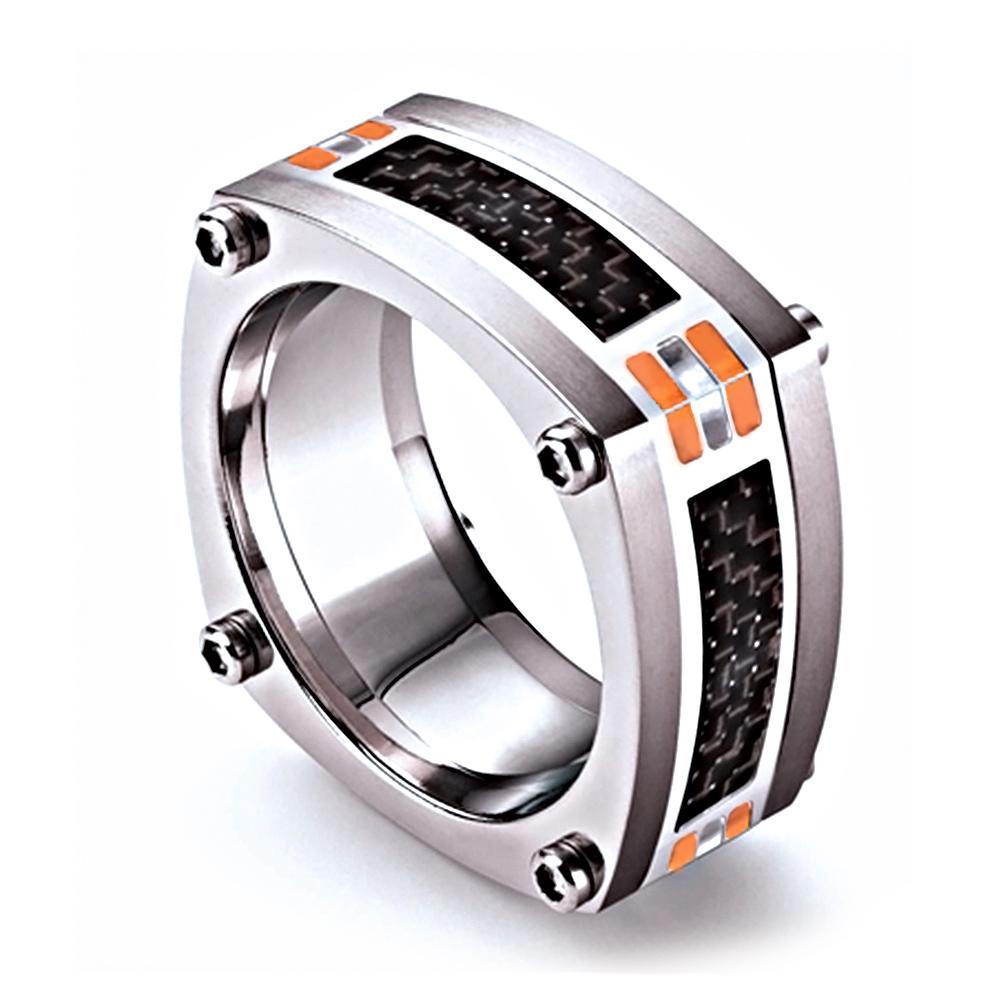 藍寶堅尼|CORSA Orange Ring 戒指(美國戒圍8-12)|Tonino Lamborghini