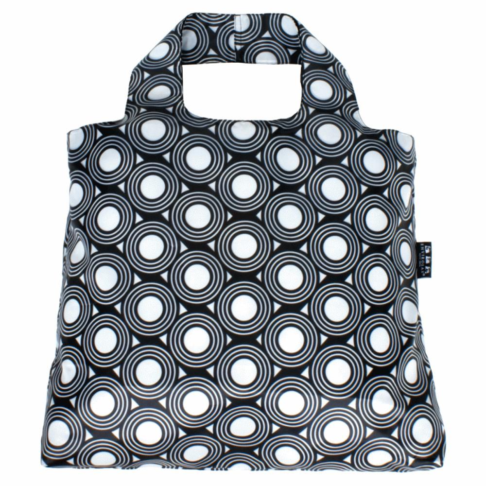 ENVIROSAX|澳洲環保購物袋 Etonico 黑白經典─圓圈