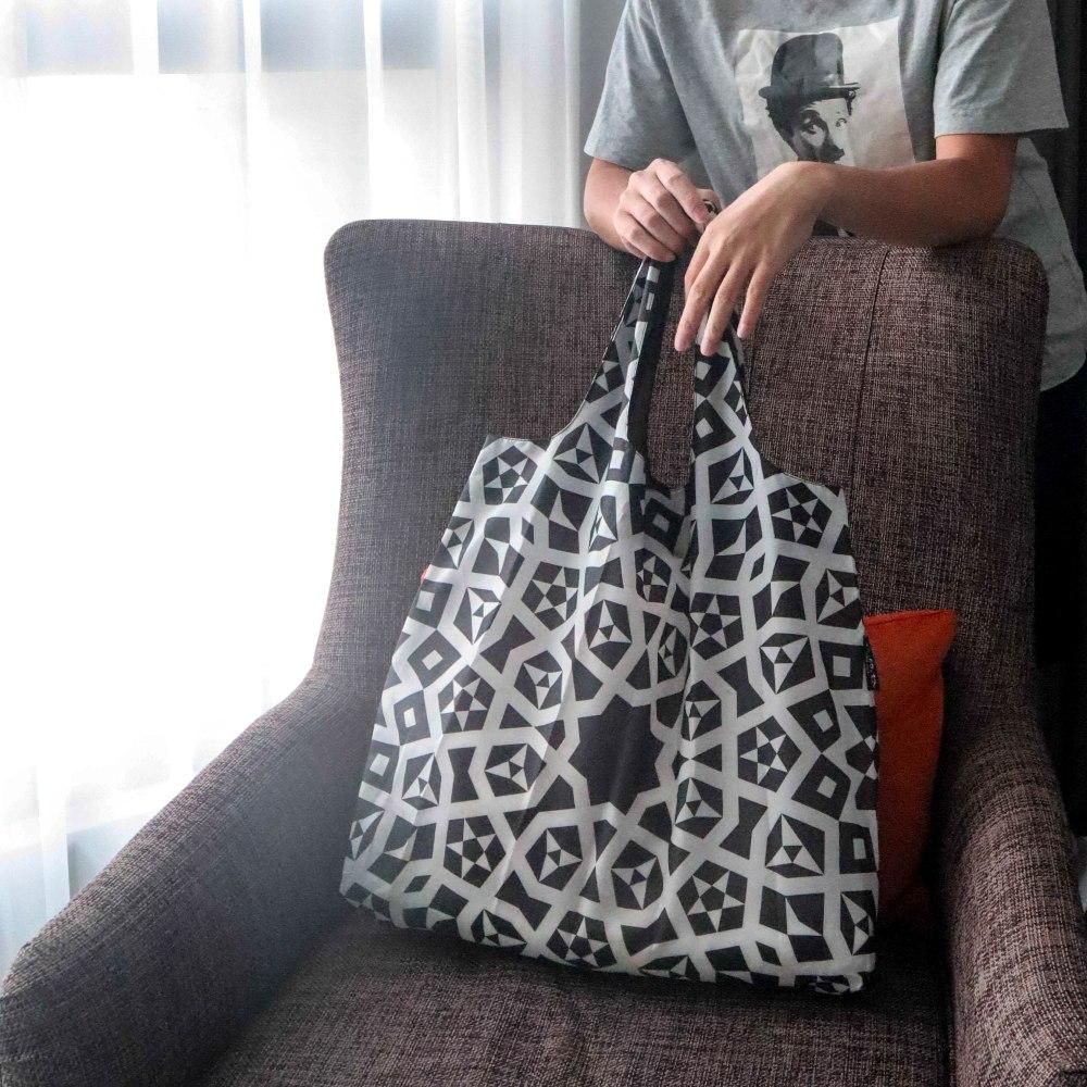 ENVIROSAX|澳洲環保購物袋 Etonico 黑白經典─鏡像