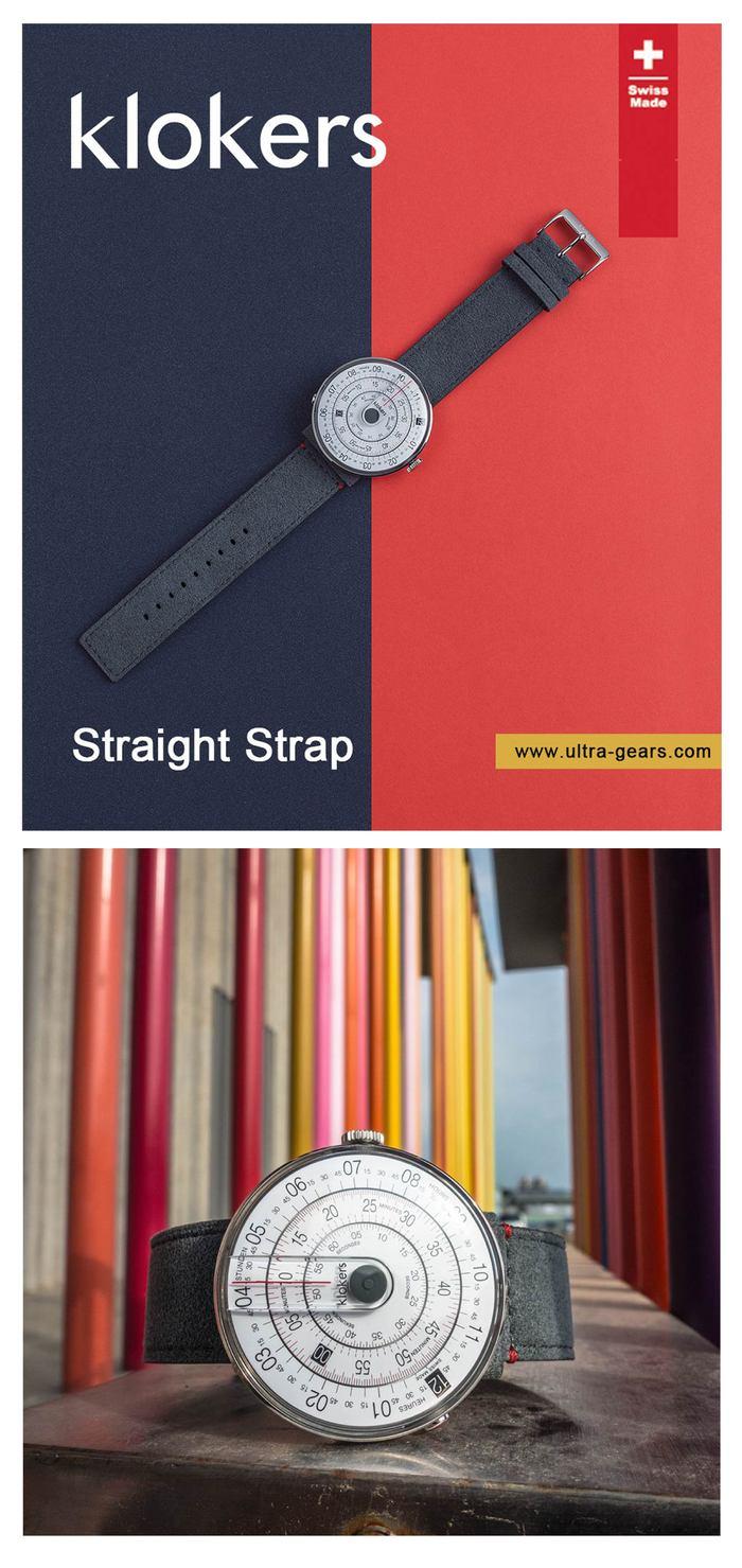 (複製)klokers【庫克錶】KLOK-01-D1 黃色錶頭+單圈寬版皮革錶帶