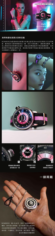 (複製)BOMBERG | BB-01 黑紅帆布帶錶款 | 錶徑 43mm